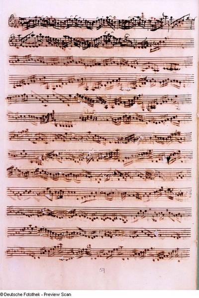 Stimmensatz: Cum Sancto Spiritu (T. 118-128.Fine), Violine I