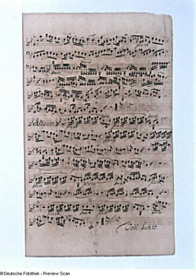 Violino primo: Schluß Eingangssatz Allegro e sostenuto und Andante, fol. 9