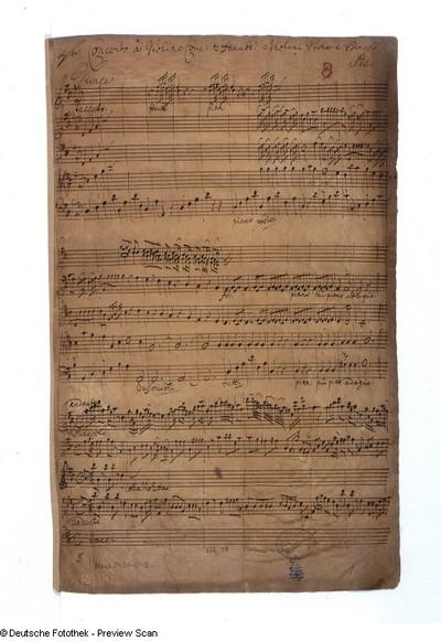 1. Satz Vivace, Seite 1 der Partitur mit Kopftitel
