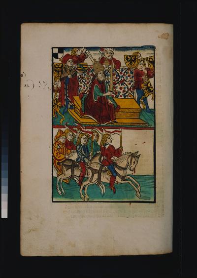 Erneute Belehnung des Herzogs Friedrich IV. von Österreich am 8. Mai 1418 durch König Sigismund