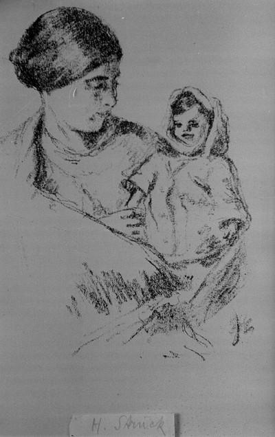 """Lithographien des Malers Hermann Struck aus dem Werk """"Das ostjüdische Antlitz"""" von Arnold Zweig"""