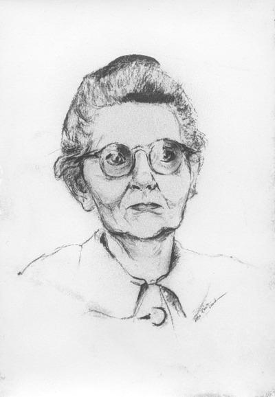 Weibliches Porträt mit Brille