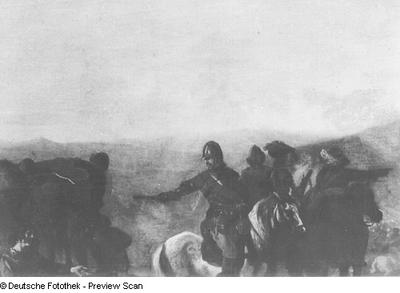 Begräbnis während der Schlacht