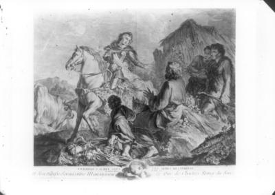 Erminia versteckt in der Rüstung Clorindas