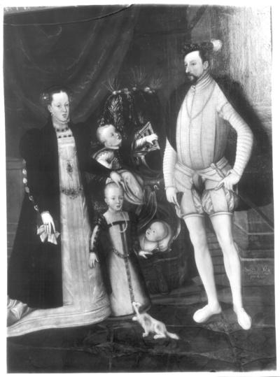 Kaiser Maximilian II. mit seiner Familie