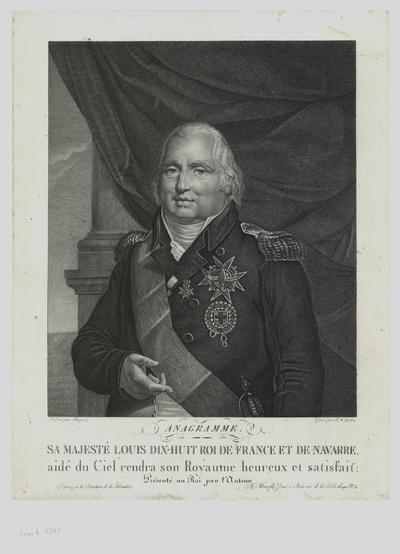 Porträt von Ludwig XVIII. von Frankreich