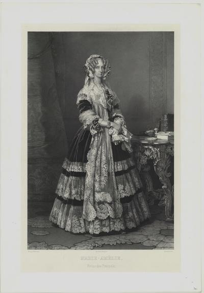 Porträt von Marie-Amélie, Reine des Français