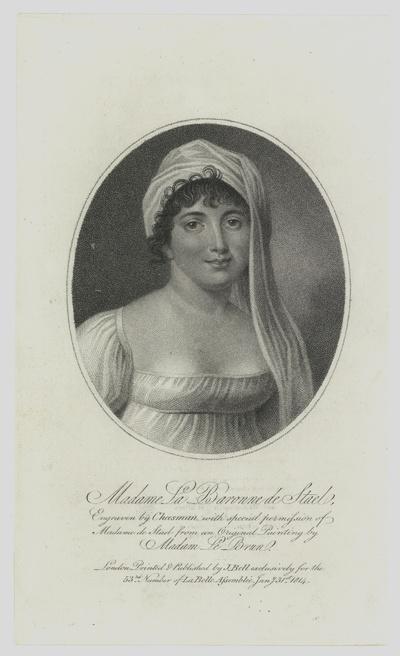 Porträt von Germaine de Stael