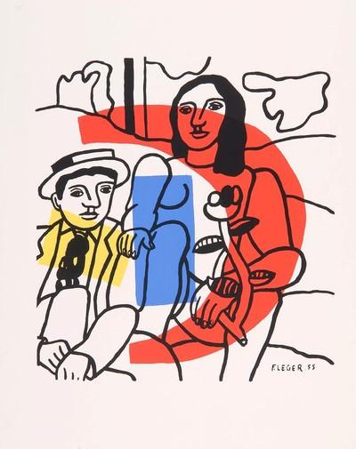 """""""Plakát a lyoni múzeum kiállításához, 1955"""""""
