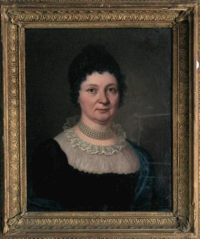 Női portré: Kovásznai Kováts Mojzesné, sz. Simonides Zsófia