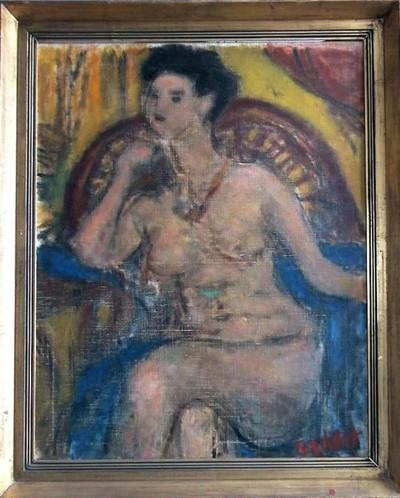 Ülő női akt