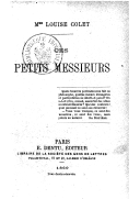 Image from object titled Ces petits Messieurs / Mme Louise Colet