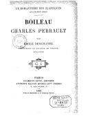Image from object titled Boileau, Charles Perrault / par Emile Deschanel,...
