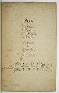 Image from object titled Air, 2 corni, 2 oboi, 2 violini, viola, soprano è cembalo, , del Sig.r Sacchini. Dans le boccage (ariette de l'Olympiade)