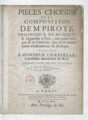 Image from object titled Pièces choisies... tant pour l'orgue et le clavecin que pour toutes sortes d'instruments de musique. Premier livre de dix planches