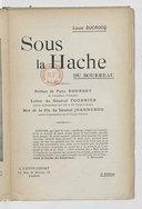 Image from object titled Sous la hache. Lettre du général Tournier,.... Mot de la fin du général Jeannerod,... (3e éd.) / Louis Ducrocq ; préf. de Paul Bourget,...