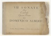 Image from object titled VIII sonate per cembalo... opera prima