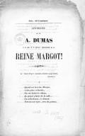 Image from object titled Apothéose de [Monsieur] Dumas à la suite de la première représentation de la reine Margot