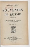 Image from object titled Souvenirs de Russie 1916-1919 (13e éd.) / Princesse Paley ; préface de Paul Bourget,...