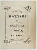 Image from object titled 2 Transcriptions sur la capricciosa Corretta, de Martini n° 1. Arietta [pour piano]