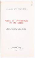 Image from object titled Poésie et mythologie au XVIe siècle : quelques mythes de l'inspiration chez les poètes de la Renaissance