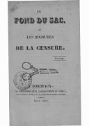 Image from object titled Le fond du sac, ou Les rognures de la censure