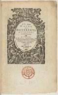 Image from object titled XVI. Livre d'Airs de differents autheurs à deux parties