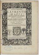 Image from object titled Sacrae modulationes nunc primum in lucem editae. Pars tertia...