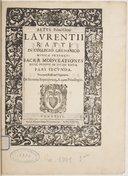 Image from object titled Sacrae modulationes nunc primum in lucem editae. Pars secunda...