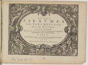 Image from object titled Pseaumes en vers mezurez mis en musique à 2, 3, 4, 5, 6, 7 & 8 parties...