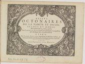 Image from object titled Octonaires de la vanité et inconstance du monde. Mis en musique à 3 & à 4 parties...