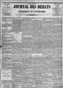 Image from object titled Le Journal des Débats politiques et littéraires - 1885-01-01