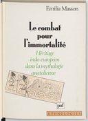 Image from object titled Le combat pour l'immortalité : héritage indo-européen dans la mythologie anatolienne / Émilia Masson