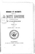 Image from object titled Mémoires et documents publiés par la Société savoisienne d'histoire et d'archéologie