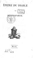 Image from object titled Épître du diable à Buonaparte... [Signé : Lucifer.]
