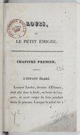 Image from object titled Louis ou Le petit émigré