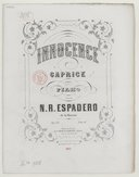 Image from object titled Innocence, caprice pour piano. Op. 23