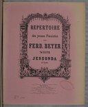 Image from object titled Répertoire des jeunes pianistes 74ème Suite Lessonda de Spohr. Op. 36