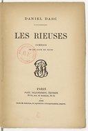 Image from object titled Rieuses, comédie en 1 acte, en prose. [Paris, Vaudeville, 27 septembre 1878.]