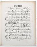Image from object titled 12me concerto, op. 70 : 1er solo : piano / J. L. Dussek ; revu et doigté par E. Decombes ; [orn. par Barbizet]