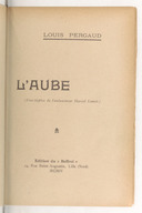 Image from object titled L'aube / Louis Pergaud ; frontispice de... Marcel Lenoir