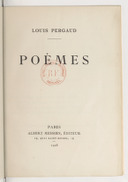 Image from object titled Poèmes / Louis Pergaud