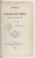 Image from object titled Journal d'un voyage en Chine en 1843, 1844, 1845, 1846. Volume 2 / par M. Jules Itier...