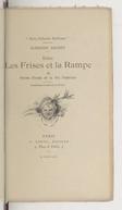 Image from object titled Entre les frises et la rampe : petites études de la vie théâtrale... / Alphonse Daudet ; illustrations de Marold et Picard