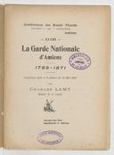 Image from object titled La garde nationale d'Amiens, 1789-1791 : conférence faite à la séance du 24 mai 1907 / par Charles Lamy,...