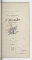 Image from object titled Armande / E. et J. de Goncourt ; illustrations de Marold