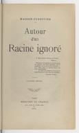 Image from object titled Autour d'un Racine ignoré... Deuxième édition / Masson-Forestier