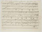 Image from object titled Piccola arietta, composta del cav. G: Crescentini. Napoli 11 Genare 1844 (manuscrit autographe)