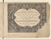Image from object titled Dodecacorde contenant douse Pse. de David, mis en musique selon les douse modes. A 2. 3. 4. 5. 6. & 7. voix. Par Cl. Le Jeune...