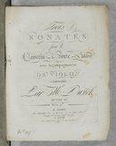 Image from object titled Trois sonates pour le clavecin ou le forte-piano avec accompagnement de violon... Oeuvre 10e